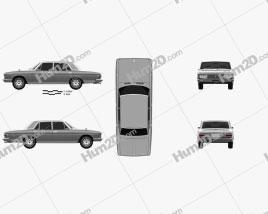 Nissan President 1965 car clipart