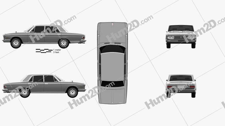 Nissan President 1965 Clipart Image