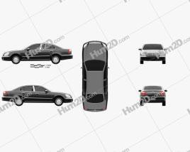 Nissan President 2003 car clipart