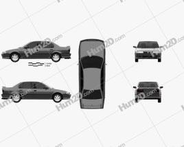 Nissan Primera 1990 car clipart