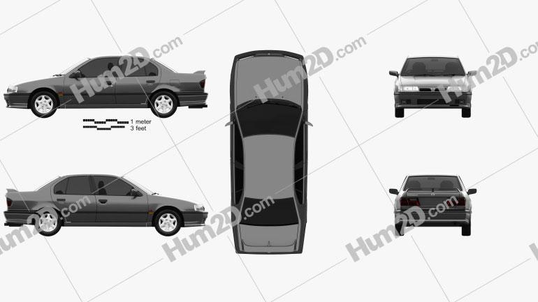 Nissan Primera 1990 Clipart Bild