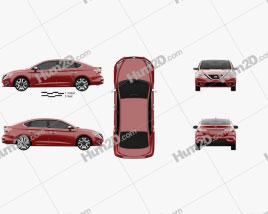Nissan Sentra SL 2016 car clipart