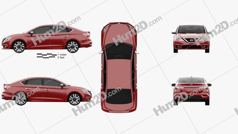 Nissan Sentra SL 2016 Clipart Image