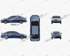 Nissan Sentra SR 2016 car clipart