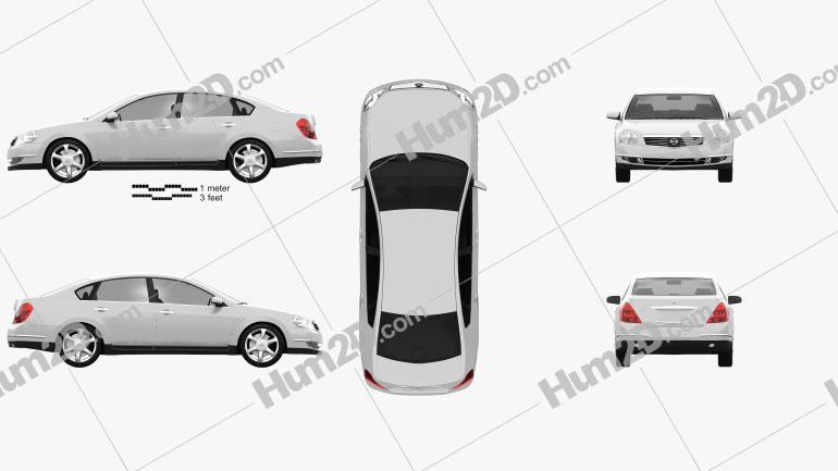 Nissan Teana 2006 car clipart