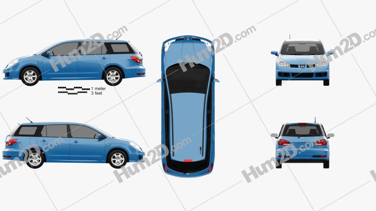 Nissan Wingroad Aero 2005 car clipart