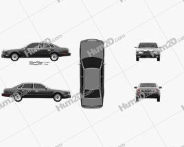 Nissan President 1998 car clipart