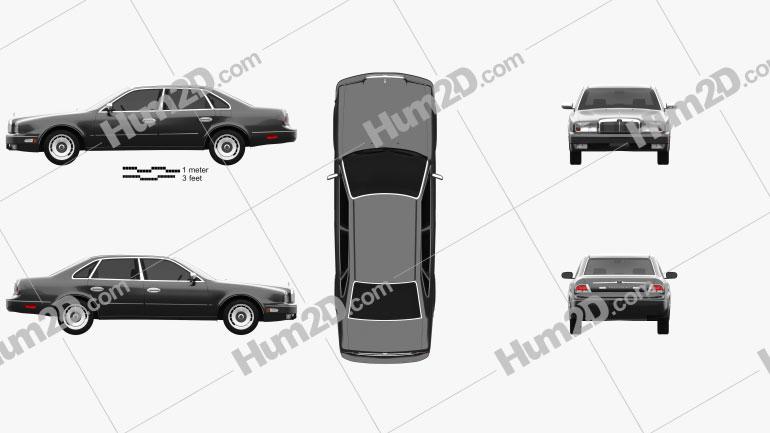 Nissan President 1998 Clipart Image