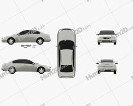 Nissan Altima S 2002 car clipart