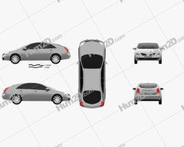 Nissan Primera hatchback 2002 car clipart