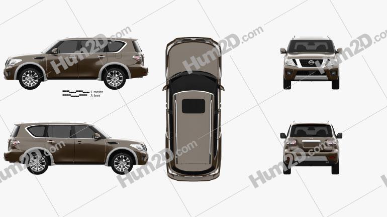 Nissan Armada 2017 Clipart Image