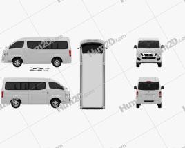 Nissan Urvan (NV350) LWB HR 2012 clipart