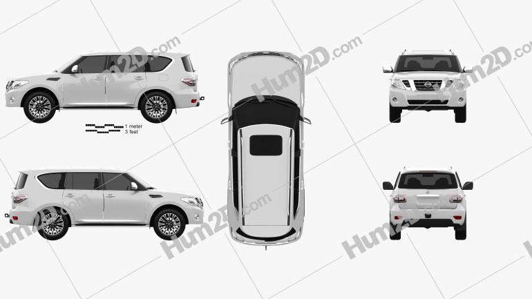Nissan Patrol (AE) 2014 Clipart Image