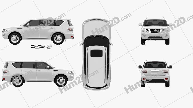 Nissan Patrol (CIS) 2014 car clipart
