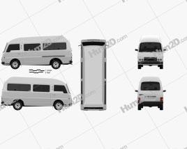 Nissan Caravan Urvan LWB HR 1985 Clipart