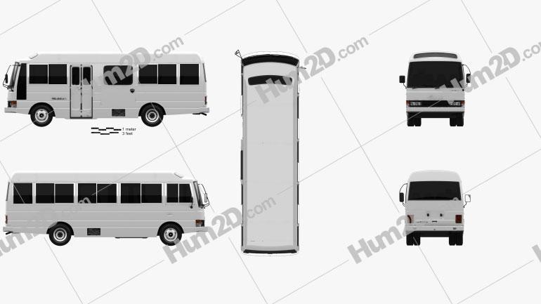 Nissan Civilian SWB Bus 1982 clipart
