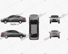 Nissan Versa Sense 2015 car clipart