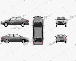 Nissan Versa Sense with HQ interior 2015 car clipart