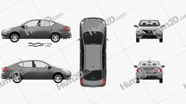 Nissan Versa Sense com interior HQ 2015 car clipart