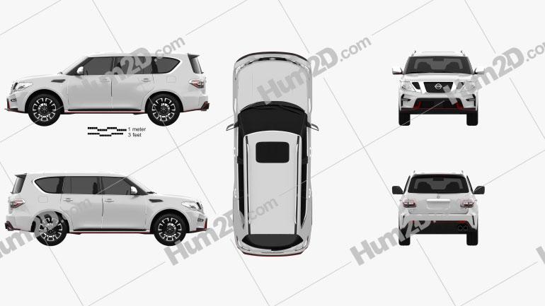 Nissan Patrol Nismo 2014 car clipart