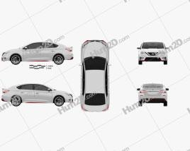 Nissan Sentra Nismo 2017 car clipart
