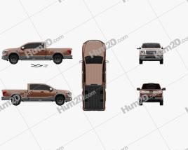 Nissan Titan Crew Cab Platinum Reserve 2017 car clipart