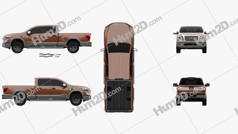 Nissan Titan Crew Cab Platinum Reserve 2017 Clipart Bild