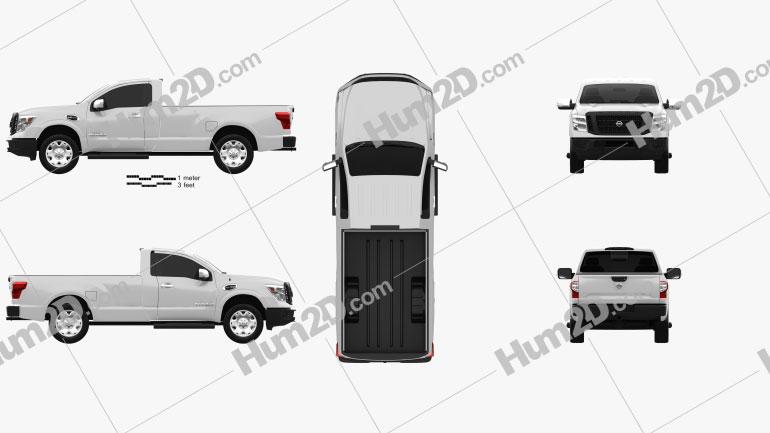 Nissan Titan Single Cab XD S 2017 car clipart