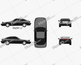 Nissan 180SX 1991 car clipart