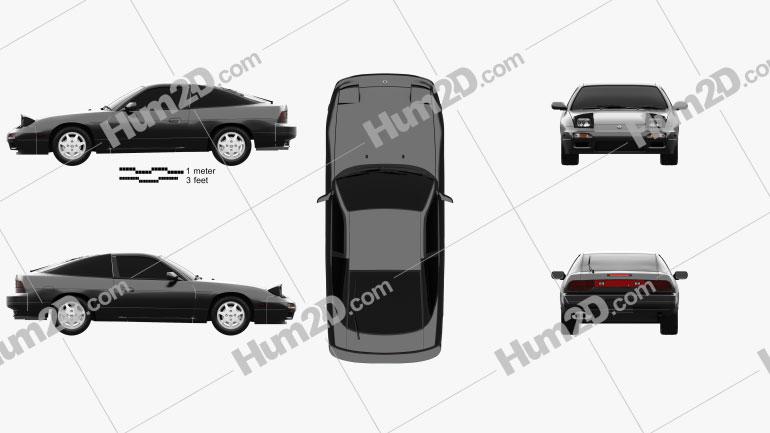 Nissan 180SX 1991 Clipart Image