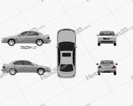 Nissan Sentra SE-R 2004 car clipart