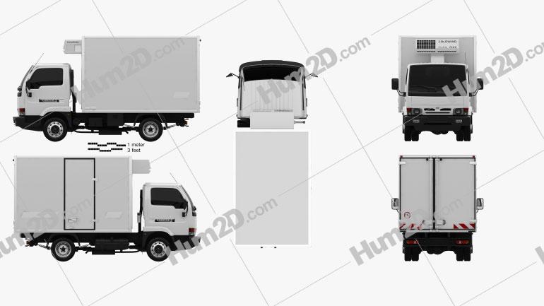Nissan Cabstar E Box Truck 1998 clipart