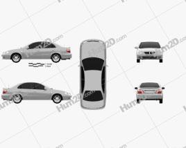 Nissan Sunny Neo GL 2000 car clipart