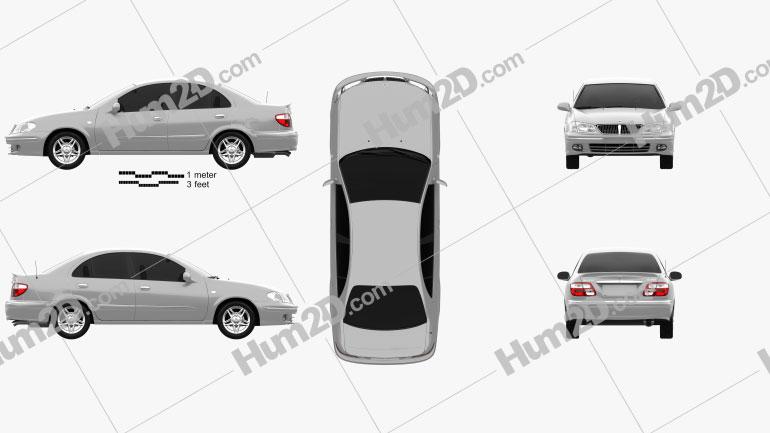 Nissan Sunny Neo GL 2000 Clipart Image