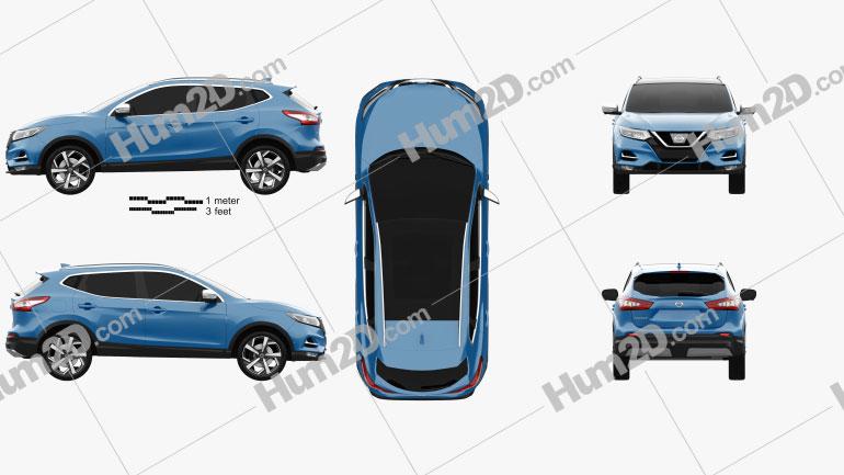Nissan Qashqai 2017 car clipart