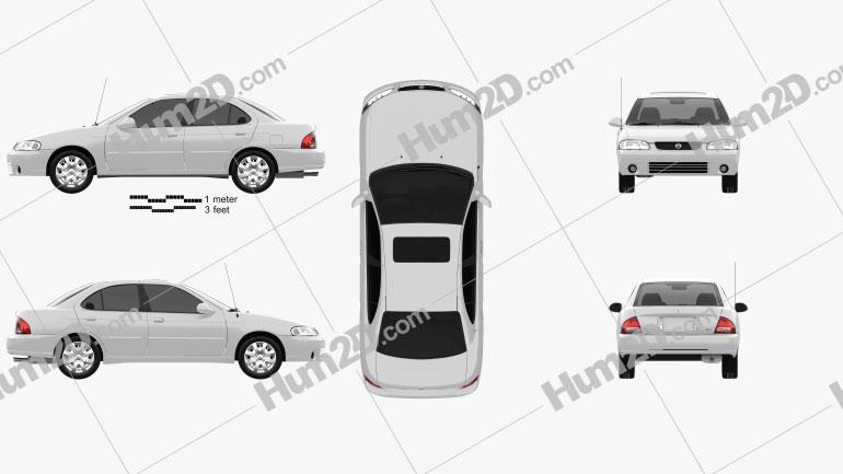 Nissan Sentra GXE 2001 car clipart