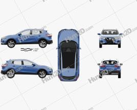 Nissan Qashqai with HQ interior 2017 car clipart
