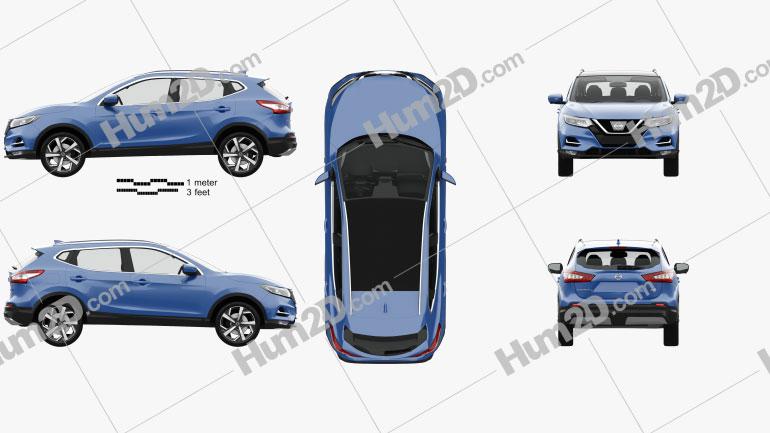 Nissan Qashqai com interior HQ 2017 car clipart