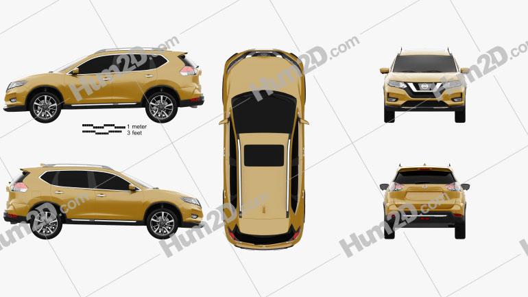 Nissan X-Trail 2017 car clipart