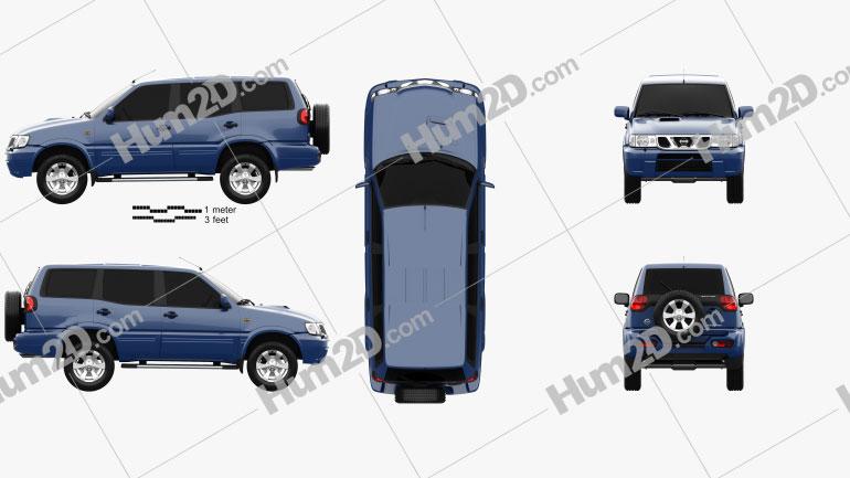 Nissan Terrano II 5-door 2006 Clipart Image