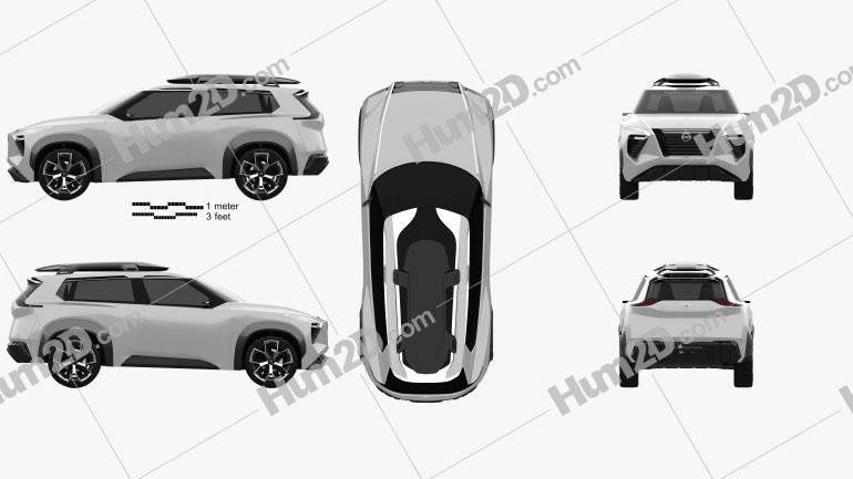Nissan Xmotion 2018 car clipart