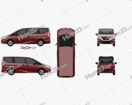 Nissan Serena Highway Star 2016 clipart