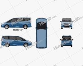 Nissan Serena Autech 2016 clipart