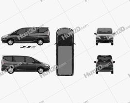 Nissan Serena S-hybrid 2016 clipart