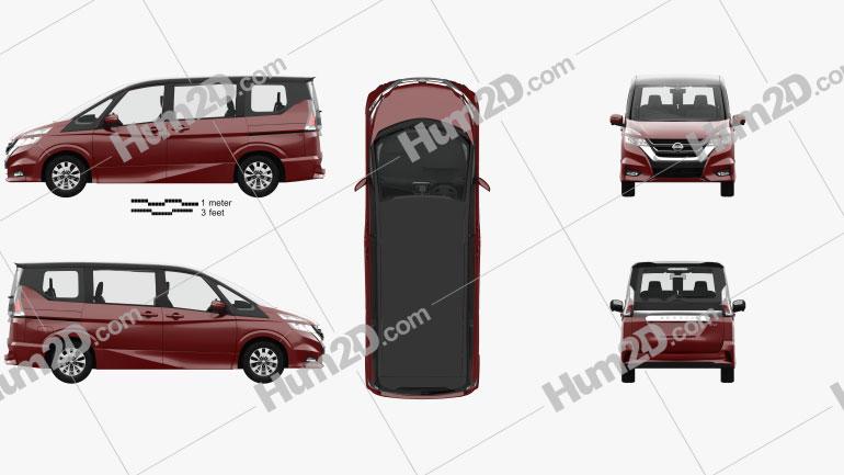 Nissan Serena Highway Star com interior HQ 2016 clipart