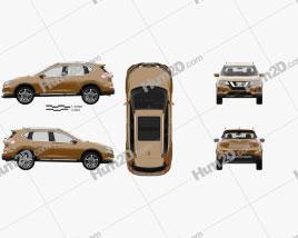 Nissan X-Trail with HQ interior 2017 car clipart