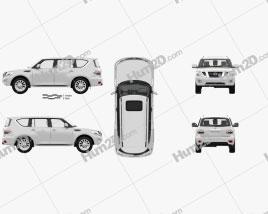 Nissan Patrol CIS-spec with HQ interior 2014