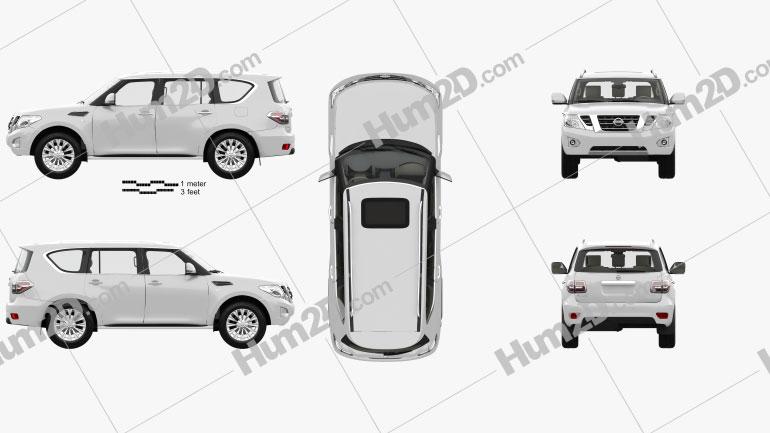 Nissan Patrol CIS-spec with HQ interior 2014 car clipart