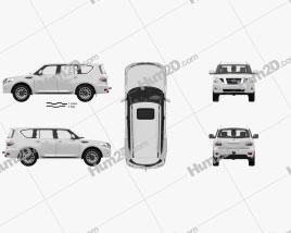 Nissan Patrol AE-spec with HQ interior 2014 car clipart