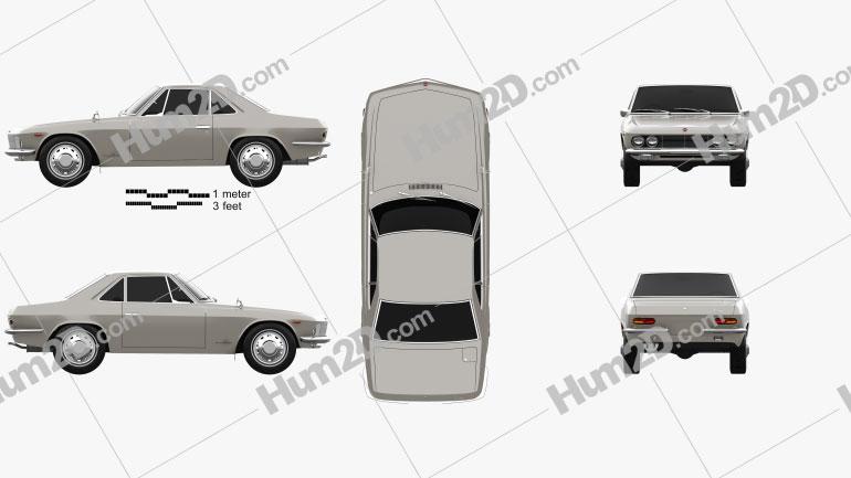 Nissan Silvia 1965 car clipart